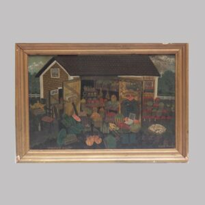 23-10110 Folk art painting on canvas Image