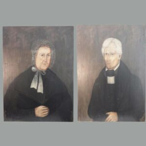 22-4298x Pair of portraits on wood board Image