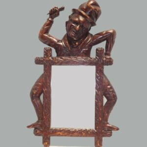 29-19145x, Carved mirror, Jolly Boatman, late 19th century. $1,450