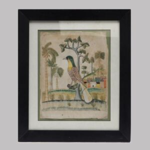26-13877x Fraktur watercolor on paper exotic scenery Image