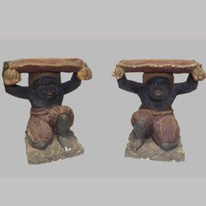 28-17742, Pair of decorative Blackmore garden seats, rare form early 20th century. $2,850