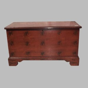 24-11357, Paint decorated blanket chest unusual eagle and bird pattern, western PA, $5,500