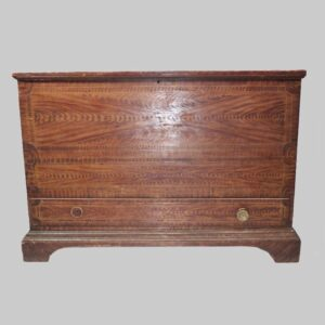 21-2086, Vermont painted blanket chest single drawer with bracket feet. $6,800