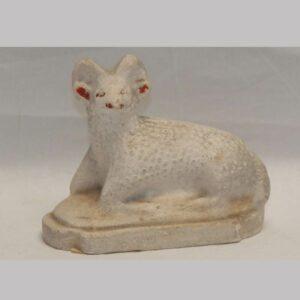 25-12393, Small reclining ram, mid 19th century. $395