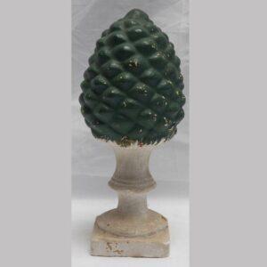 24-12045x, Chalk pineapple garniture green paint. $675