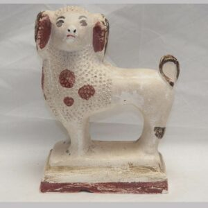 28-18439, Chalk standing poodle red paint PA. $475