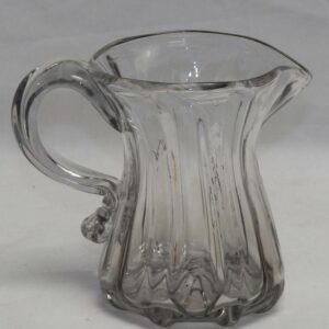16-26862, Rare smaller size blown flint glass pitcher, pillar mold, Pittsburgh district. $495