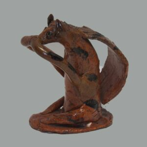 25-12154,Folk art figure of a squirrel attr. to Zorb, Hanover twp. York Co., PA. $4,400
