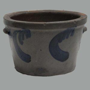 27-15697x, Stoneware milk pail cobalt blue swag decoration, S. Bell Strasburg VA. $1,750