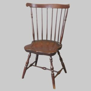 14-23780, 7 spindle fan back windsor chair, shaped seat probably Rhode Island, late 18th century. $695