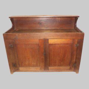25-13497, Pa walnut full size dry sink with shelf. $2,400