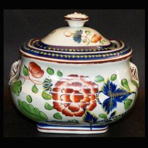 16-26694 Gaudy Dutch Covered Sugar Bowl Image