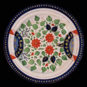 27-16900 Gaudy Dutch Rare Pearlware Plate Image
