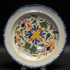 15-25727 Pearlware Feather Edge Plate Image