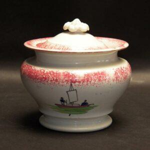16-26516 Red Spatter Sugar Bowl Image