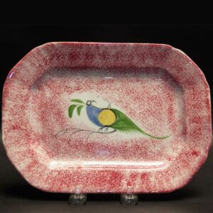 15-25436 Red Spatter Platter (SOLD) Image