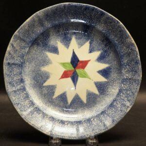 2-14094 Blue Spatter Plate Image