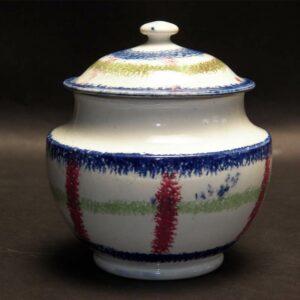 14-23215 Plaid Design Spatter Sugar Bowl Image