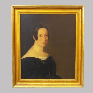 15-24961 Oil on canvas portrait of a lady Image