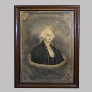 22-4727 Large folk art charcoal drawing of George Washington Image