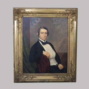 15-26120 Large oil on canvas portrait of young man Image