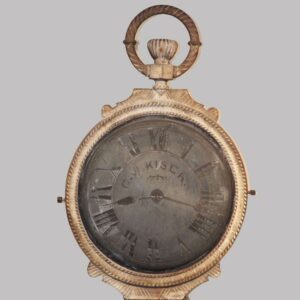 28-18004, Pocket watch trade sign, double sided iron and zinc, C.W. Kiser. $3,500