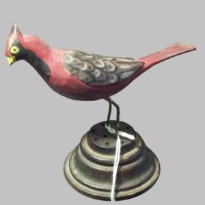 23-10771, Folk art carved wood bird, polychrome paint, probably PA, late 19th early 20th century. $575