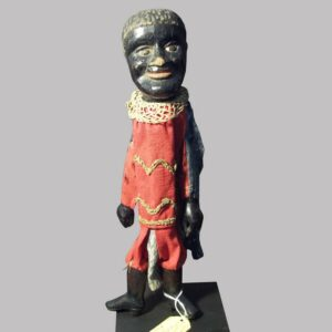 30-20475x, Folk art carved wood figure of a black man puppet, American late 19th century. $775