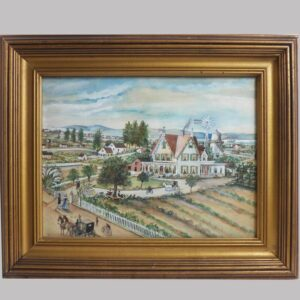 31-20414 Colorful watercolor on paper of a Victorian estate Image