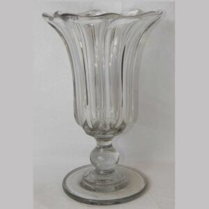 29-19906, Blown flint glass footed celery vase, Pittsburg district, 1850-75. $375