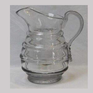 16-26859, Blown flint glass pitcher molded rings Pittsburg district, 1850-75. $375