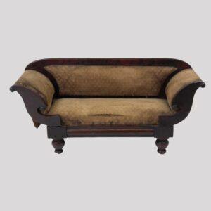 14-23775, Miniature mahogany empire sofa, probably a sales sample, 1830-40's. $2,750