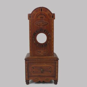 24-10661, Federal inlaid watch hutch PA or English, 1810-20's. $3,250