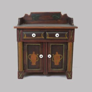 26-13676, Miniature or child's size paint decorated jelly cupboard. $1,950