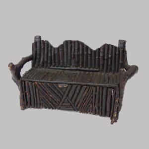 28-18791, Adirondack stick miniature settee, late 19th early 20th century. $950