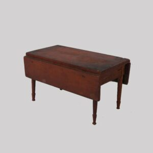 15-25746, Miniature drop leaf table or sales sample red paint, mid 19th century, Berks Co., PA. $675