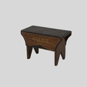 31-22318, Folky paint decorated little bench for Jackie, PA late 19th century. $900