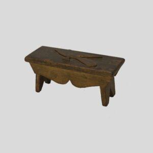 23-9941, Miniature folk art bench carved bird in flight. $495
