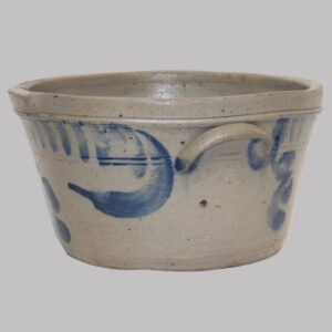 31-22407x, Stoneware milk pal cobalt blue swag and flower, PA or MD. $875