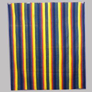 16-26677, Patchwork quilt bold 7 color rainbow Jacobs coat pattern, Lancaster Co., PA, 1875-1910. $1,650