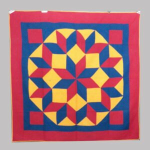 31-22007, PA patchwork quilt graphic solid colors star pattern, probably Lancaster Co. $1,600