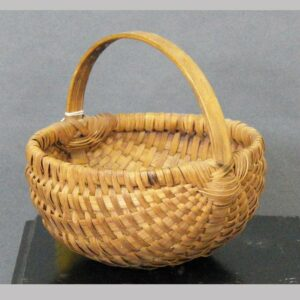 """22-3808, PA oak splint basket round bottom, late 19th century.  7 1/2"""" wide. $240"""