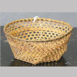 "24-11766, Small size miniature cheese style splint basket, 4"" wide. $1,295"