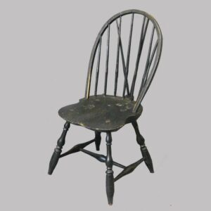 27-16394, New England Windsor side chair, shaped seat, black paint. $875