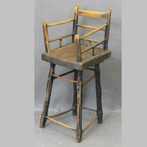 2-6873, Folky child's Windsor style high chair, found in the Poconos PA. $775