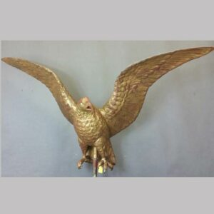 Large size eagle weathervane, spread wing, original gold gilt painted surface. 19th century , Ohio or PA. $5,950