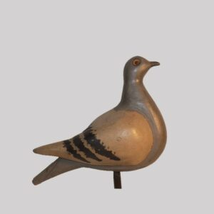 28-18727, American carved and painted wood pigeon, probably a working decoy, 1920-30's. $1,850