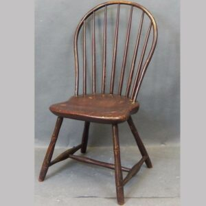 16-27365, PA Windsor hoop back 7 spindle side chair, 19th century paint. $450