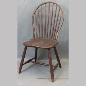 23-10211, Windsor 9 spindle hoop back side chair, York Lancaster Co., PA. $775