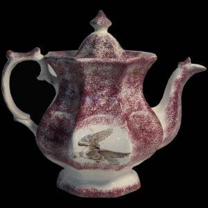 12-21304 Purple Spatter Tea Pot Image